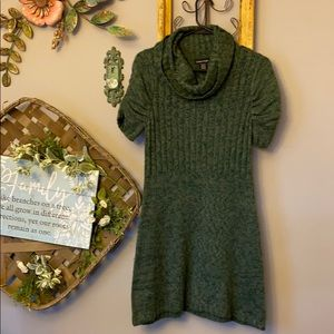 Sweater Project Cowl Neck Short Sleeve Dress